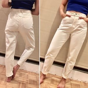 Vintage 80s high-waisted white Lee jeans